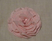 Bitty Blossom in Light Pink Fabric Flower Hair Clip or Pin