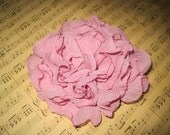 Organza Bloom in Rose Pink Fabric Flower Hair Clip or Bobby Pin or Brooch Wedding Flower