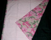 Pink Camo Reversible Blanket Ready to Ship