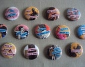 Smiths Morrissey art pins buttons.  Set of 13