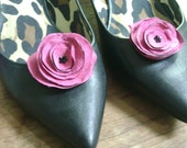Jordan Shoe Clips- Hot Pink with Black Centers
