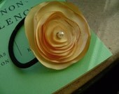 Sunshine Satin Flower Ponytail holder