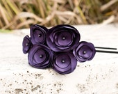 Liv-Deep Plum multi flower headband with dark purple centers