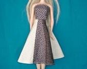 Brown Panel Skirt Barbie Dress