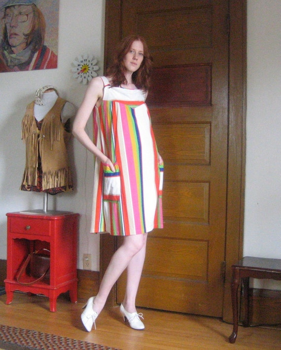 1970s Faux terry romper dress size small medium