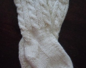 PDF PATTERN Baby Girl Cable Knit Knee Highs Two Straight Needles Boy Kilt Handknit Socks Sock Pattern Knee-High