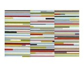 Multi-Colored Painterly Stripes, Unframed 10 x 14 Giclee Print