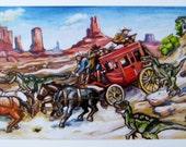 Postcard - Stagecoach
