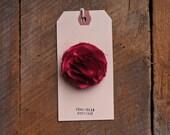 Handmade Red Satin Blossom