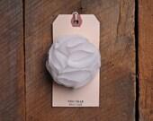 Handmade White Chiffon Blossom