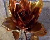 Rose Full Blown Copper Long Stem