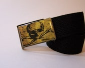 Gold Skull and Crossbones (Ready to Ship) Belt