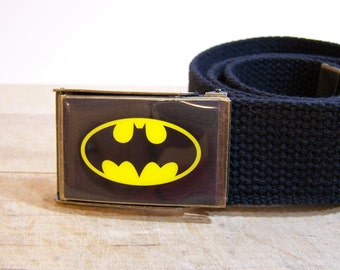 Batman Belt (Ready to Ship) Shown on Black Strap