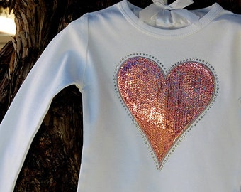 Sequin and Rhinestone Shirt- Perfect for Valentine's Day, Birthday Parties, and Portraits