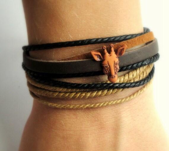 Giraffe Leather Bracelet
