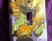 Oh You Saucy Thing.  Fantastic Four's The Thing Inspired Switchplate