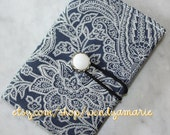 Blue Paisley Passport Cover