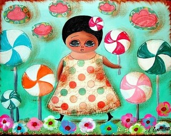 sale - LOLLYPOP 8X10 REPRODUCTION PRINT FROM ORIGINAL PAINTING
