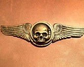 Winged Skull Pin- Steampunk