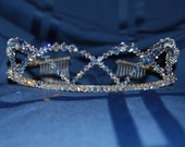 Beautiful Swarovski Crystal Tiara - Bridal - Formal - FREE SHIPPING