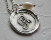 Wax Seal Stamped Initial Necklace