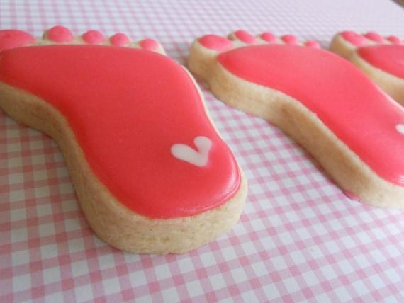 Baby Footprint cookies -
