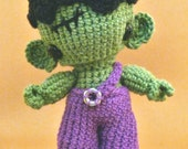 Amigurumi pattern - Franco the cute monster  - INSTANT DOWNLOAD