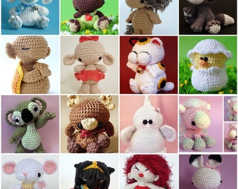 Amigurumi pattern bundle: all my 28 patterns for the price of 22, get 6 patterns for free
