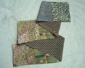"""Kimono Silk Scarf Green Pieced  58"""" Long Special Reserrved for Claralie"""