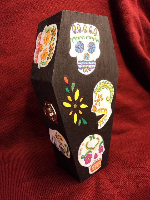 Day of the Dead Keepsake Box....walking skeleton included.