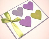Birthday Card - Hearts and Pearls