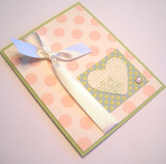 Birthday Card - Polka Dots and Hearts