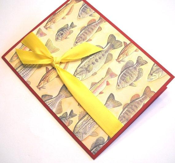 Birthday Card - Greek and English, Fisherman