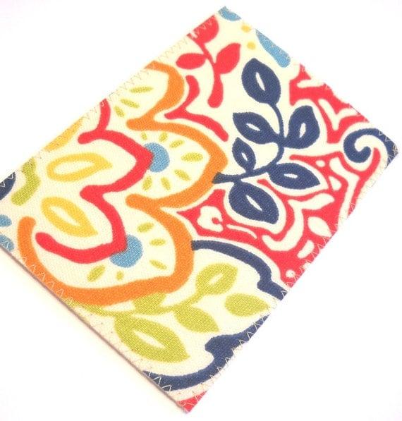 Fabric Postcard - Bright Floral