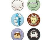 Kawaii Food Mini Button Set