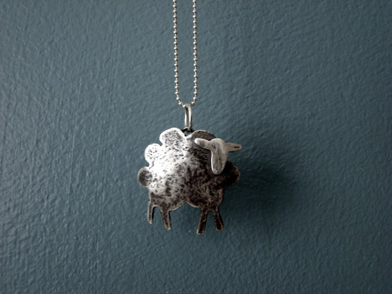 lil' black sheep - sterling silver necklace