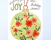 Wishing you joy ornament: set of 8 cards ON SALE