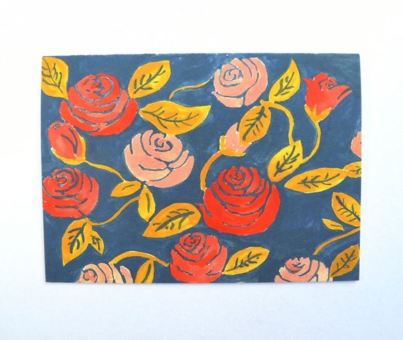 Blue Floral no.1: card & envelope