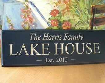 Lake House Sign, Beach House, .. Carved signs for the Lake House,  Difference is in the Detail...8x24