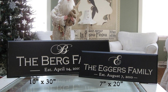 CARVED PERSONALIZED FAMILY Name Sign ..The Difference is in the Detail...10x30