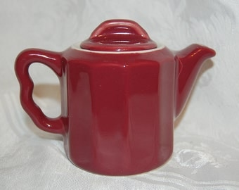 Vintage Cranberry Red Small Teapot Hot Water Holder at The Rose Rooms