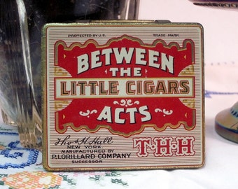Between the Acts - Little Cigars Tin - Vintage - WWII era