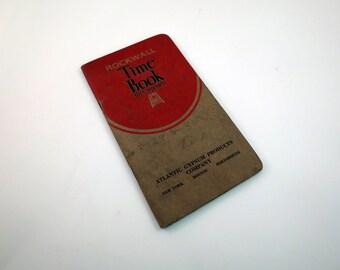 1930 Time Book For Carpenters Ledger Handwritten Depression Era