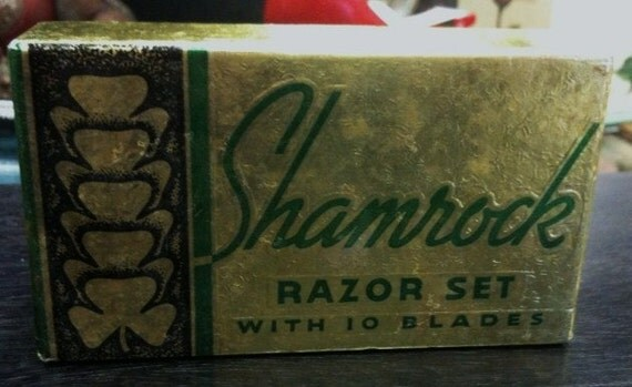 Vintage Shamrock Razor Set w\/ box