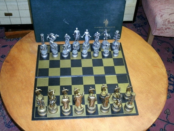 Vintage Chess Set - Edition 1 Ancient Rome