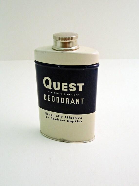 1950s QUEST Deodorant Powder - Feminine Hygeine - Novelty - NOS