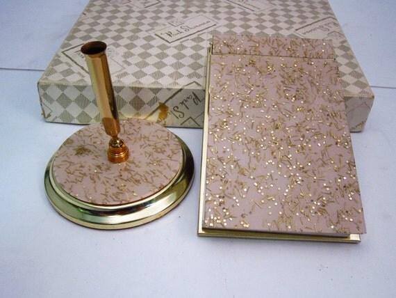 Park Sherman Desk Notepad Pen Holder 1950s Boxed Set