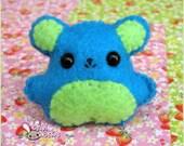 Green and Blue Bear Broach