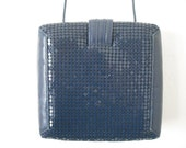 SALE Square Metal Mesh Vintage Handbag