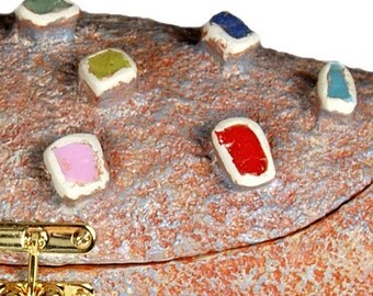 Clutch Evening Bag Multicolor Handbag Sculpture